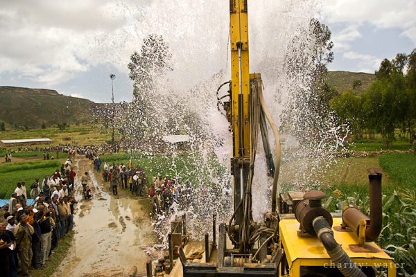 Digging a well in Ethiopia