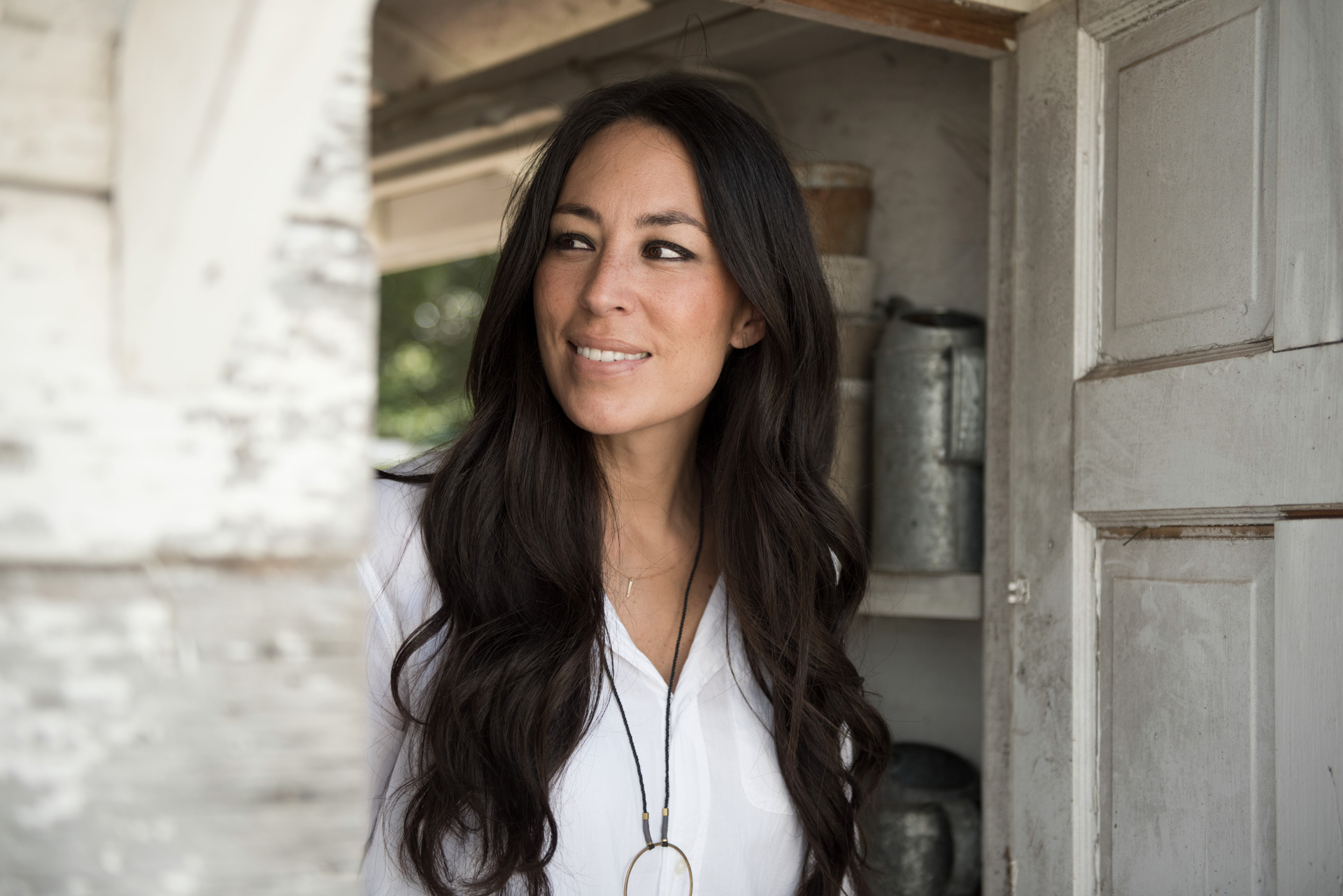 Joanna Gaines Looking Out a Window