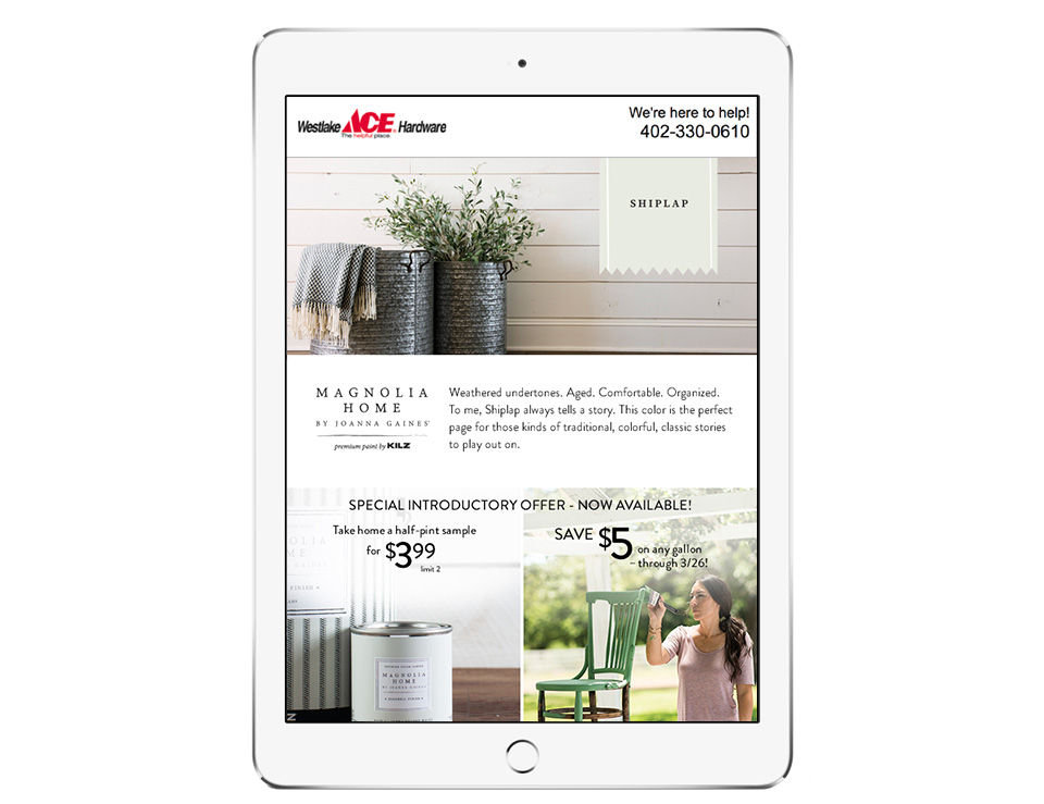 Email Newsletter for Magnolia Home Paint