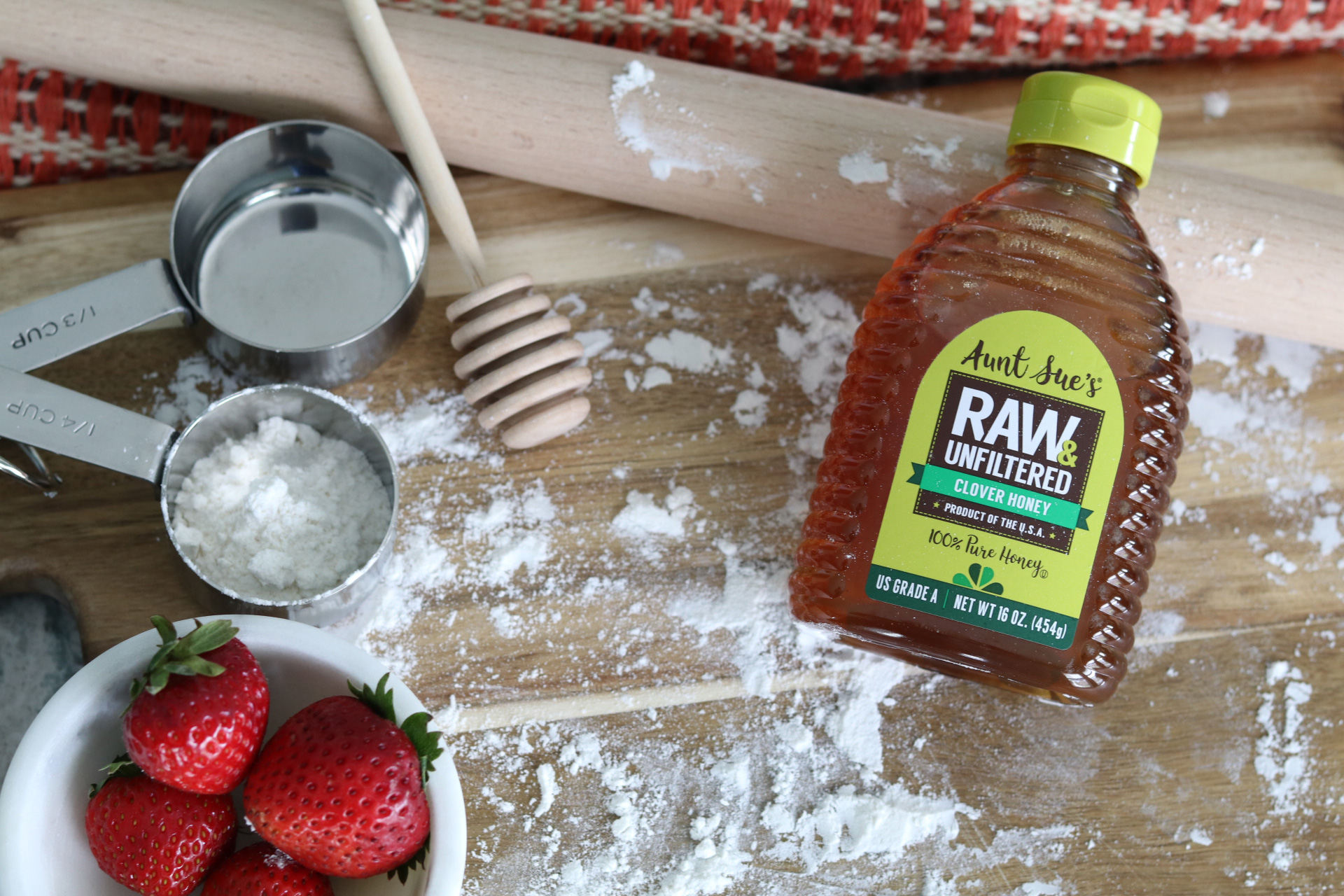 Aunt Sue's Raw & Unfiltered Honey with Baking Supplies