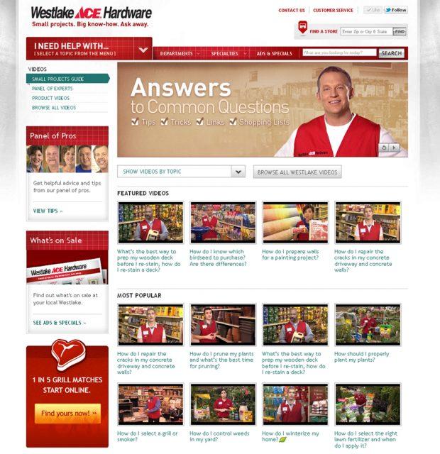 Westlake Ace Hardware Website – Bozell