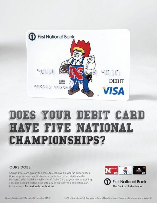 First National Bank Husker Card – Bozell
