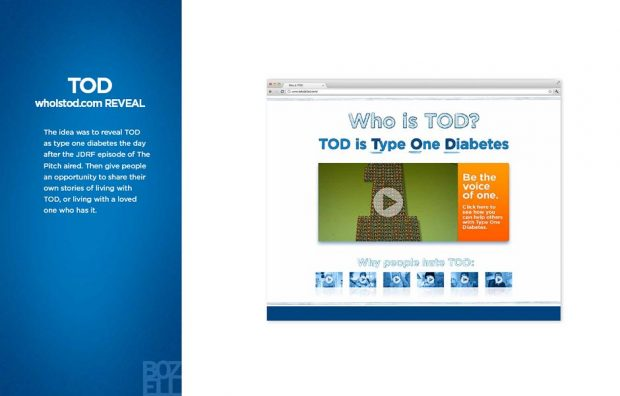 The idea was to reveal TOD