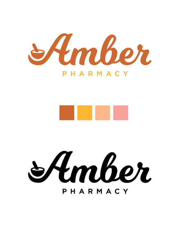 Amber Pharmacy asked for a logo refresh