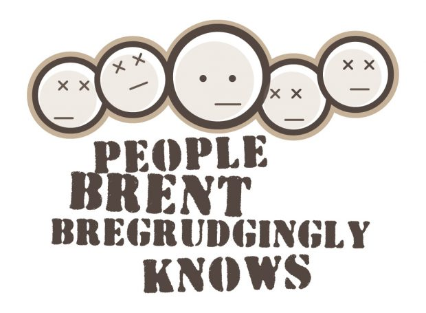 Brent wanted a logo for his fantasy football group named 'people Brent begrudgingly knows'