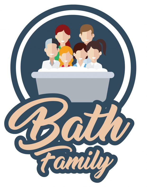 The Bath Family wanted a fun, family logo to frame for their parents