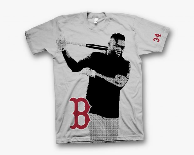 Blake wanted a Boston Red Sox t-shirt that serves as a farewell tribute to David Ortiz and his final season