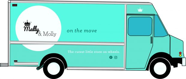 Mally & Molly asked for a truck wrap design for their fashion truck opening soon