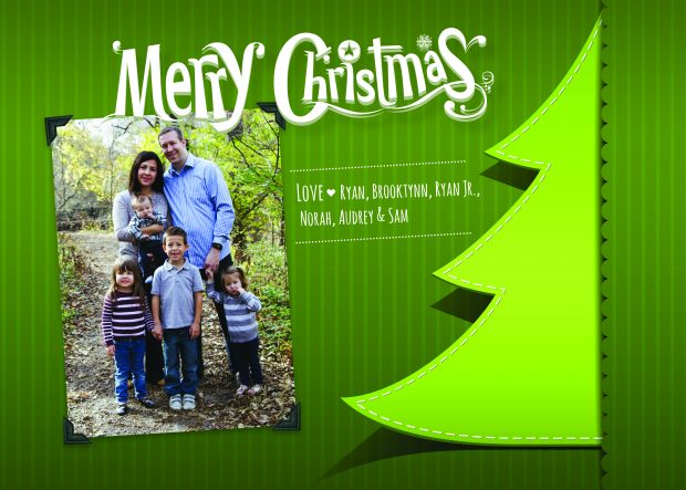 Brooklynn wanted a family Christmas postcard