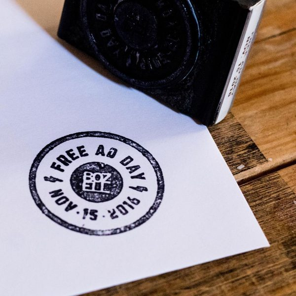 Free Ad Day Stamp on Paper