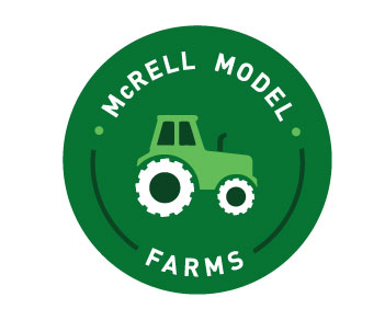 McRell Model Farms, builder of premium 1/64 scale custom farm models, wanted a new logo
