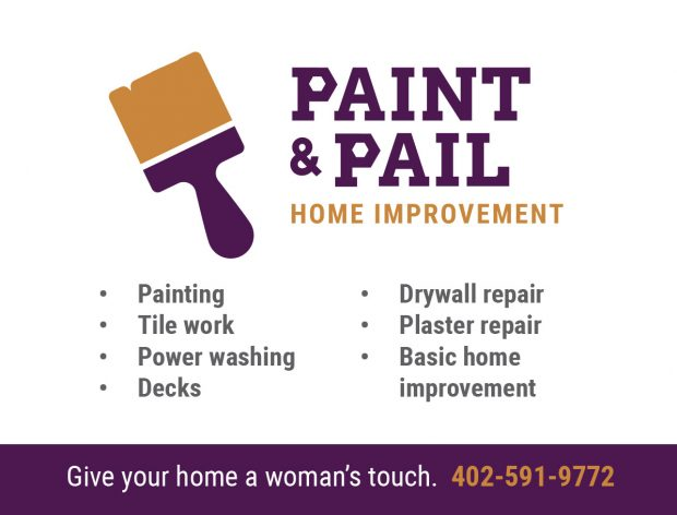 Paint and Pail asked for a promotional magnet for its painting company, making mention that they are women contractors