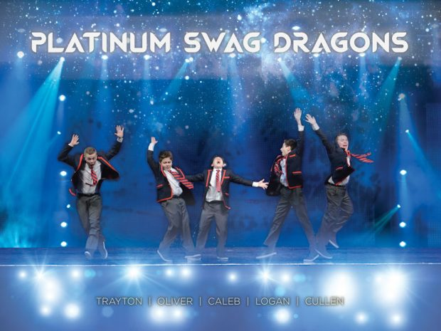 Competitive dance group, Platinum Swag Dragons, wanted a fun concert poster