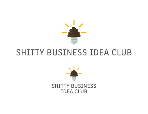 A soon-to-be public website where people can submit their shitty business ideas needed a logo