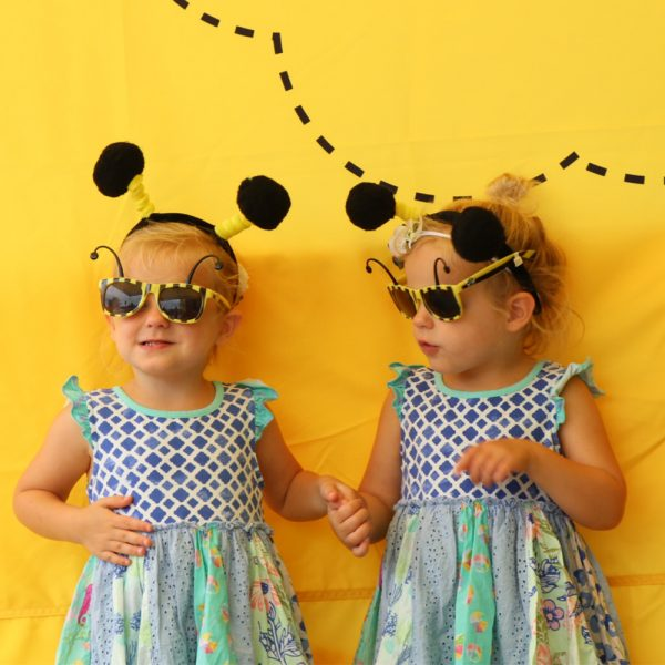 Two Girls in Bee Costumes