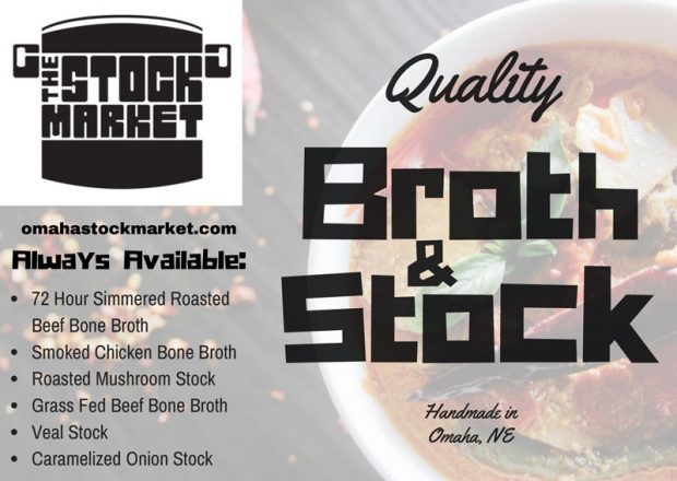 The Stock Market wanted a flyer to promote their locally sourced and small batch produced stocks and broths