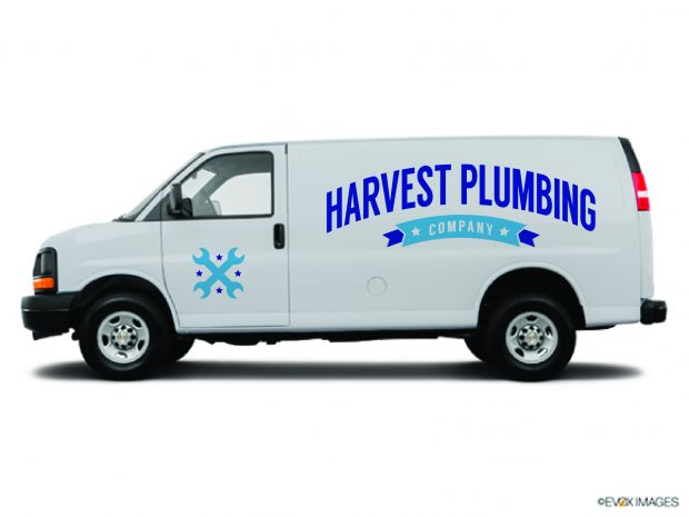 Harvest Plumbing needed a company logo to be used on its van, website and business cards