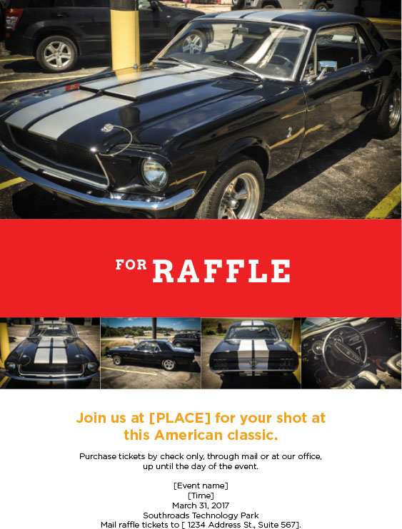 Habitat for Humanity Sarpy County wanted an event flyer for an upcoming car raffle