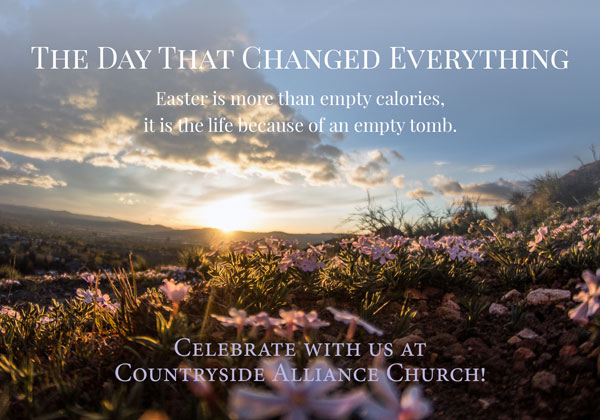 Countryside Alliance Church was looking for an Easter postcard encouraging people to come to church