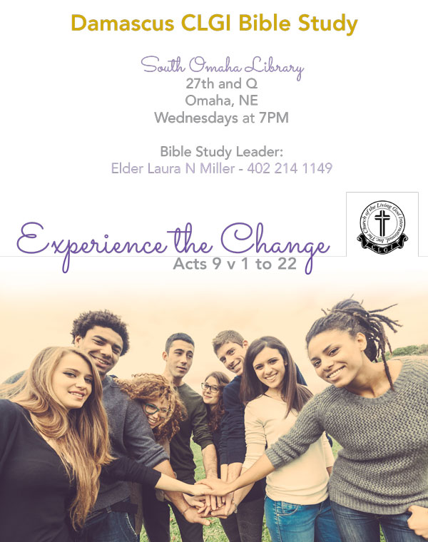 Damascus CLGI Bible Study wanted a flyer to encourage participation